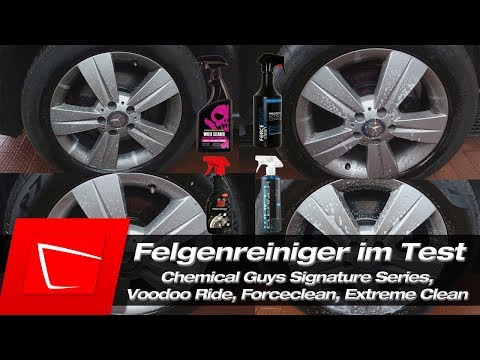 Felgenreiniger Test Teil 6 - Chemical Guys Signature Series, Voodoo Ride, Forceclean, Extreme Clean