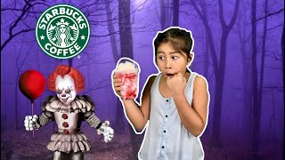 we ordered the NEW *IT FRAPPUCCINO* from Starbucks! | Starbucks Secret Menu 2019