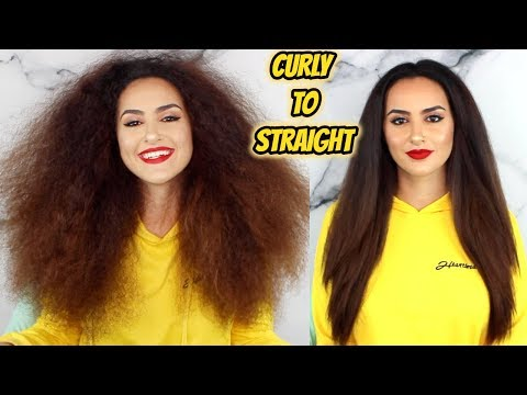 DevaCut made my hair uneven!? | Curly to Straight routine after Deva Cut