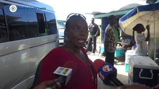 Mini Bus Operators protest following an altercation with police