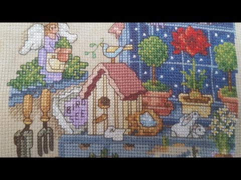 Flosstube #30, cross stitch finishes and projects, the garden
