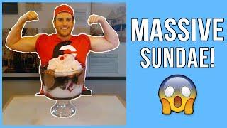 Huge Ice Cream Sundae (13 Scoops!) - Dessert Challenges