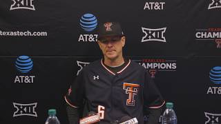 Texas Tech Baseball vs. Oregon: Game 1 Postgame Availability | 2019
