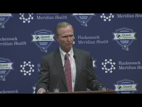 NY Giants News Conference On McAdoo Firing