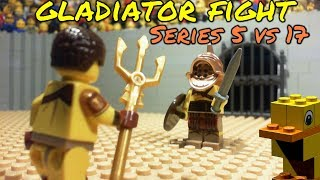 LEGO Gladiator Fight - Series 5 vs Series 17 (Lego Stop-Motion)