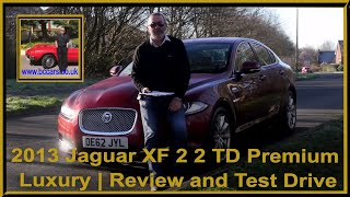 Review and Virtual Video Test Drive In Our 2013 Jaguar XF 2 2 TD Premium Luxury 4dr OE62JYL