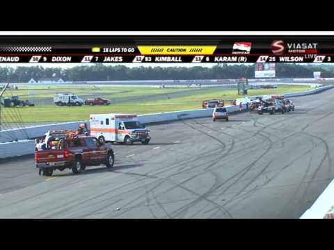 Indycar 2015. Pocono 500. Wilson and Karam Huge Crash