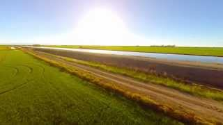 A Canal and Rice Fields in the Sacramento Valley