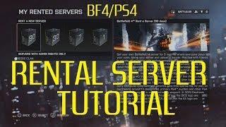 battlefield 4 Rental Servers on PS4 Tutorial