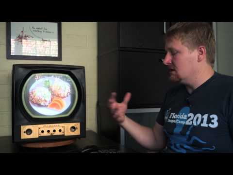 Retro Admiral Television with Raspberry Pi and XBMC