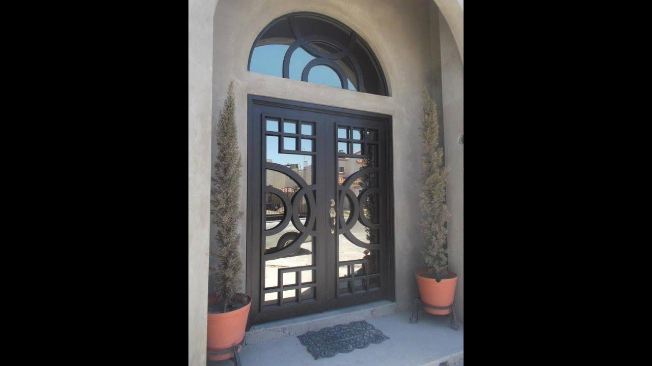 Puertas residenciales de herreria youtube for Puertas de madera con herreria
