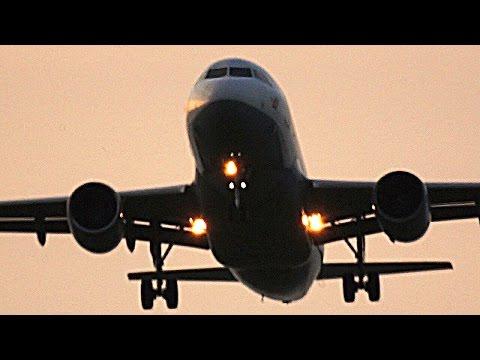 Germanwings A319 Landing at Leipzig/Halle Airport (Germany)