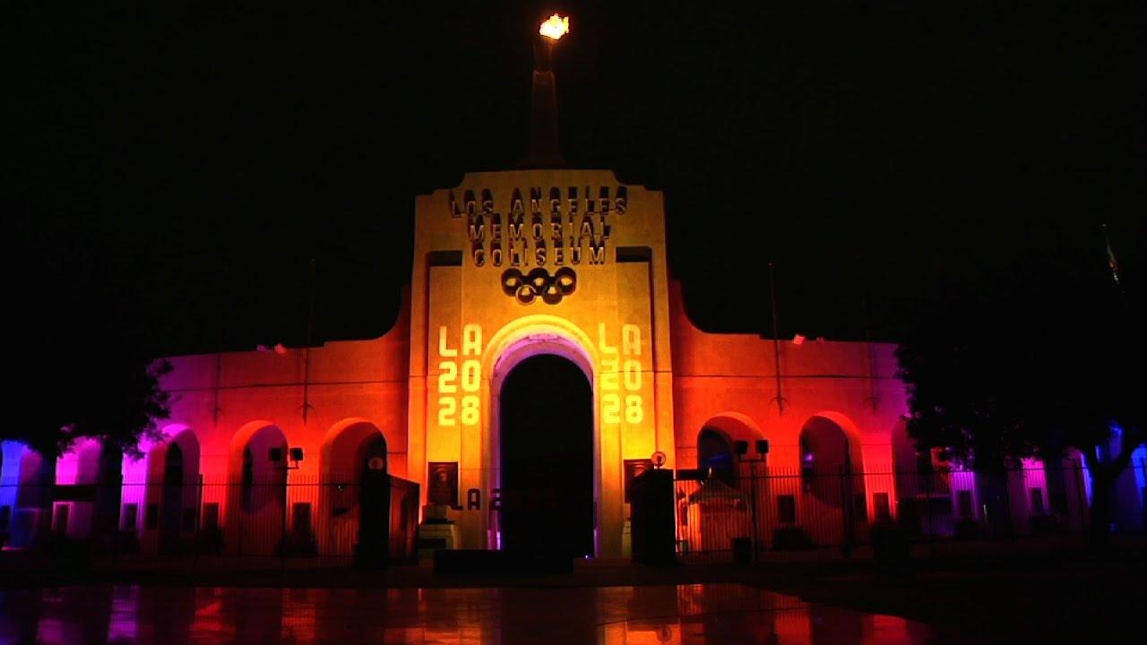 LA Lights Olympic Cauldron - YouTube