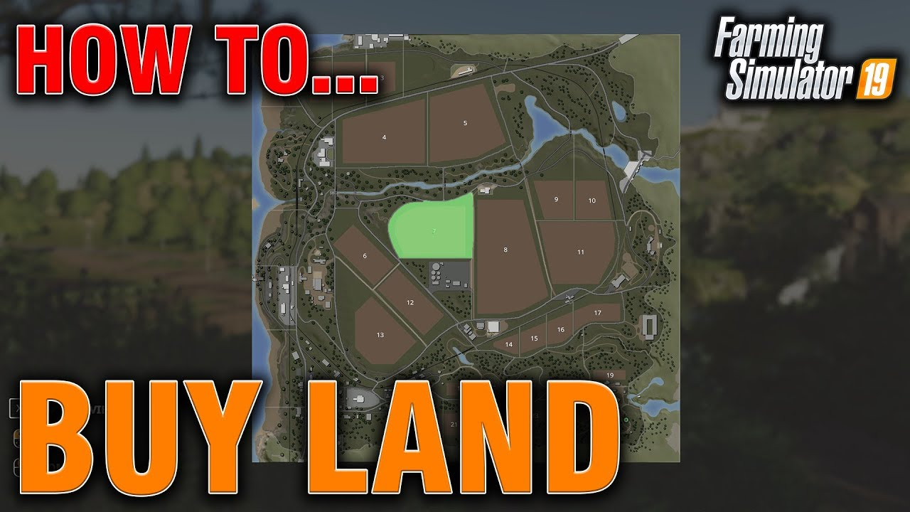 Fs19 How To Buy Land Sell It Pc Xbox Youtube