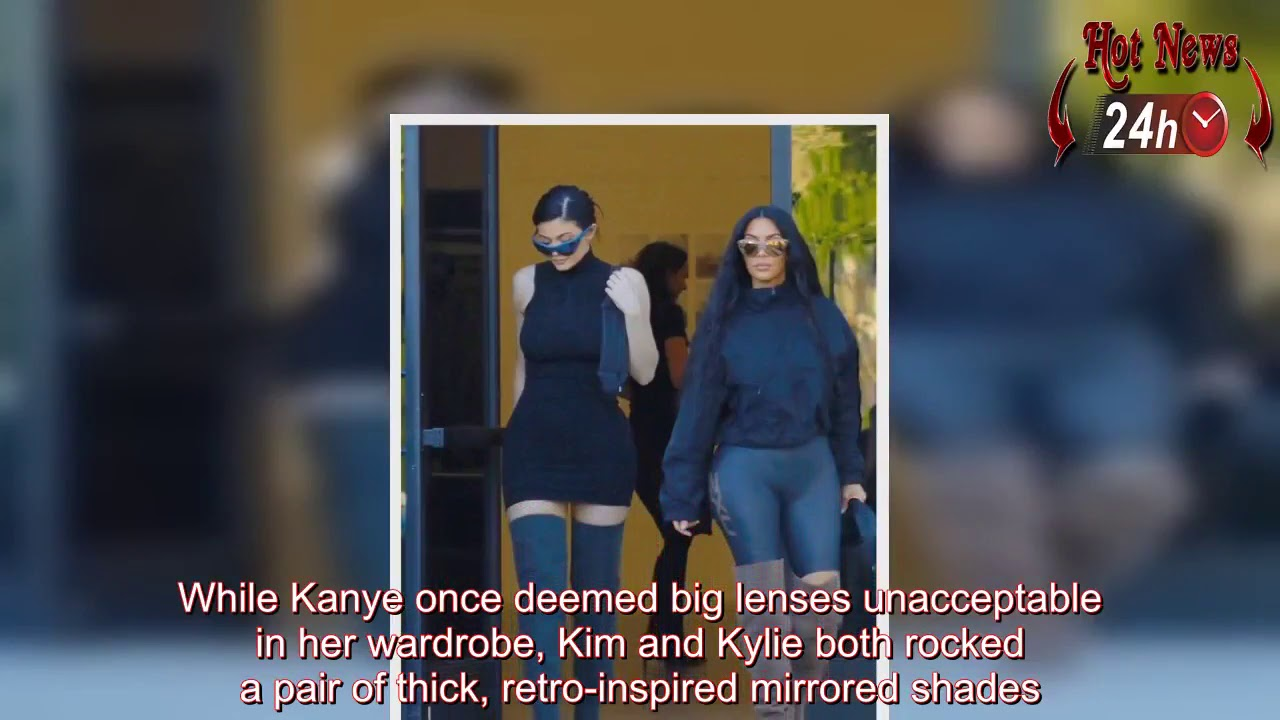 23c483e2bba01c Kim Kardashian and Kylie Jenner stun in spandex Yeezy outfits - YouTube