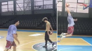 LiAngelo Ball And Lamelo Ball At Their FIRST Workout In Lithuania - Ball Family In Lithuania
