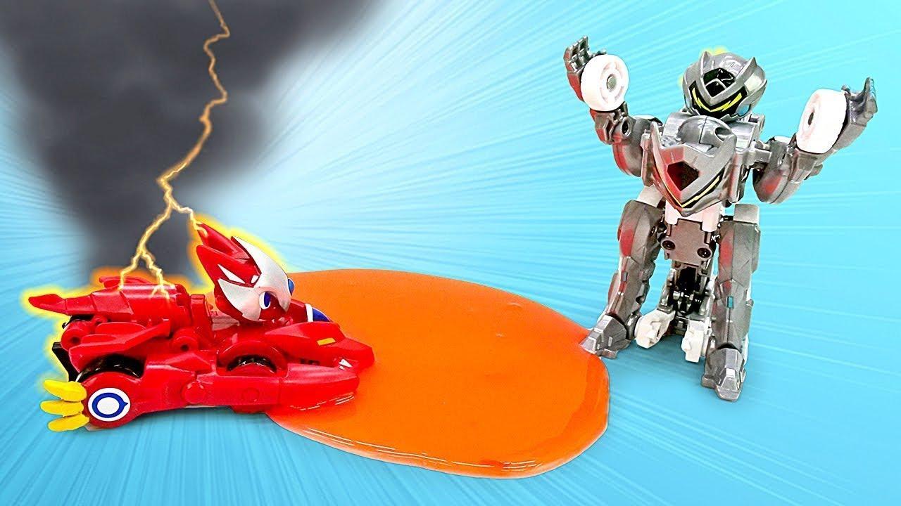 Трансформеры роботы Монкарт— Видео про трансформеров сгероями мультсериала— Нечестные гонки