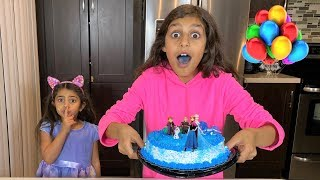 Deema Play Happy Birthday FROZEN 2 party cake surprise