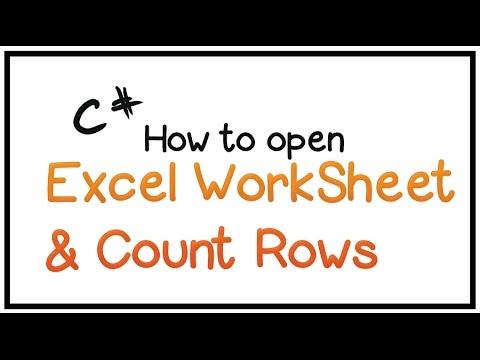 How To Edit Excel Worksheet Using C# - Part 1- (Open Excel ...