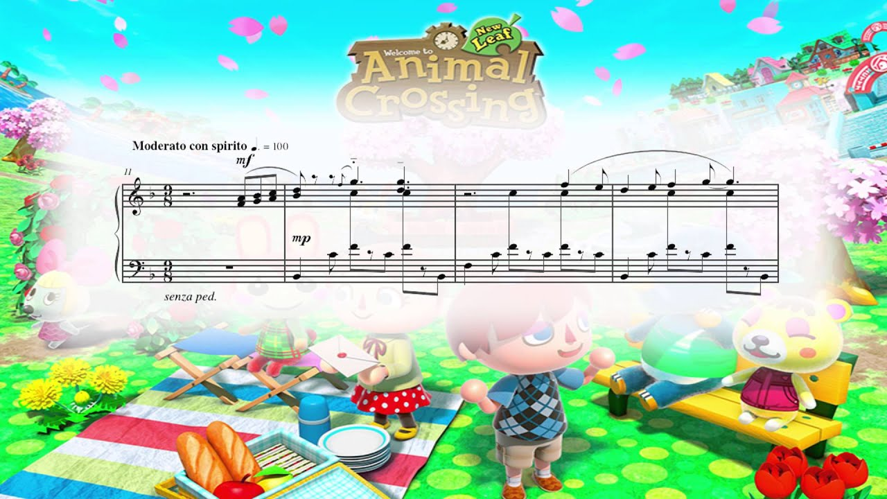 Animal Crossing Desktop Wallpaper Animal Crossing New Leaf Main Theme Piano Sheet Music