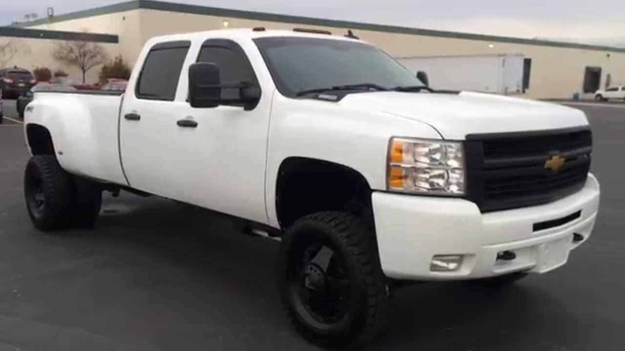 com 2007 chevy silverado 3500 crew cab dually 4x4 lifted 6 6 duramax diesel 113k youtube [ 1280 x 720 Pixel ]