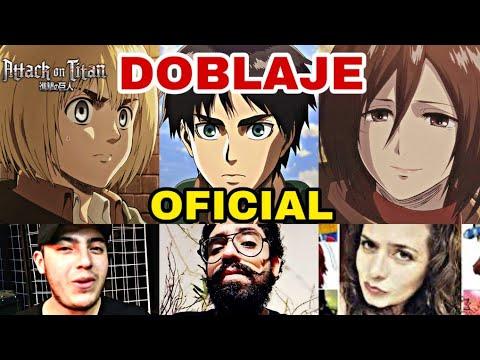 Anuncio Oficial Confirmando el Doblaje de Attack on Titan en Español Latino para Todo Latinoamerica