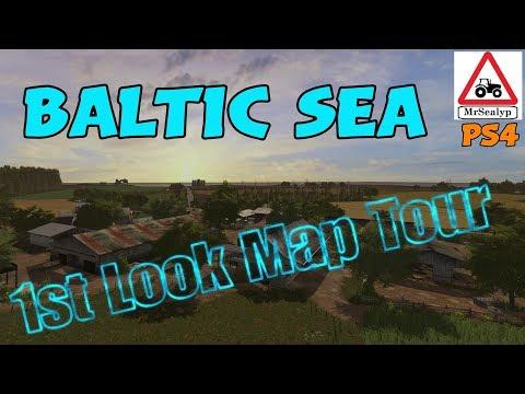 BALTIC SEA (1st Look Map Tour!). Farming Simulator 17 PS4.
