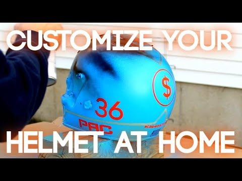 How To Spray Paint Your Helmet At Home!