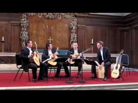 """Baltic Guitar Quartet - """"Gitana linda"""" - Chris Ruebens"""