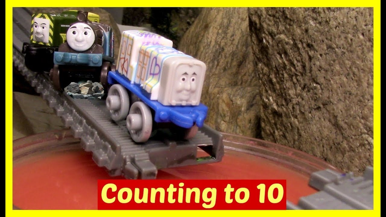 Counting 1 to 10 with Thomas and Friends Minis Toy Trains ...