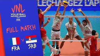 France v Serbia - Full Match - Final Round Pool A | Men's VNL 2018