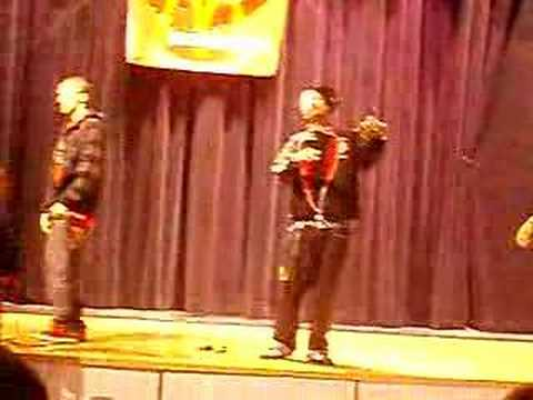 i15 Performing Lost In Love ACAPELLA at my school :]