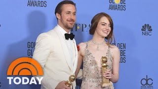 Repeat youtube video 'La La Land' Has A Landslide Of Wins With 7 Awards At Golden Globes | TODAY