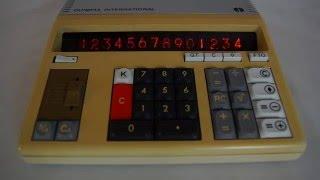Tischrechner Olympia International CD701 Calculator Nixie Tube