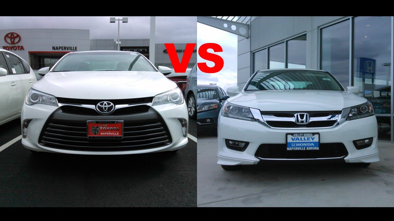 Accord Vs Camry >> 2015 Toyota Camry VS 2015 Honda Accord - YouTube