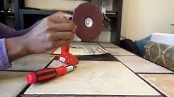 Sand Paper Drill Refill Hack. Black & Decker.