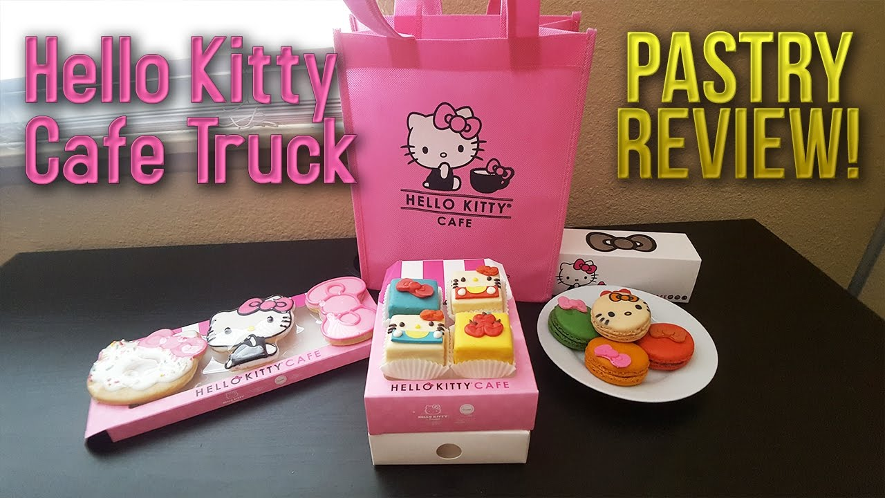 Unboxing HELLO KITTY PASTRIES Hello Kitty Cafe Truck Pastry Review