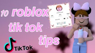 How To Grow Your Roblox Tik Tok Account Fast Youtube