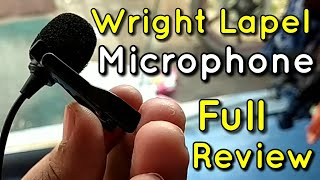 Wright Lapel Lavalier Microphone for PC DSLR SMARTPHONE with 20 Feet Long Wire | Full review | Hindi