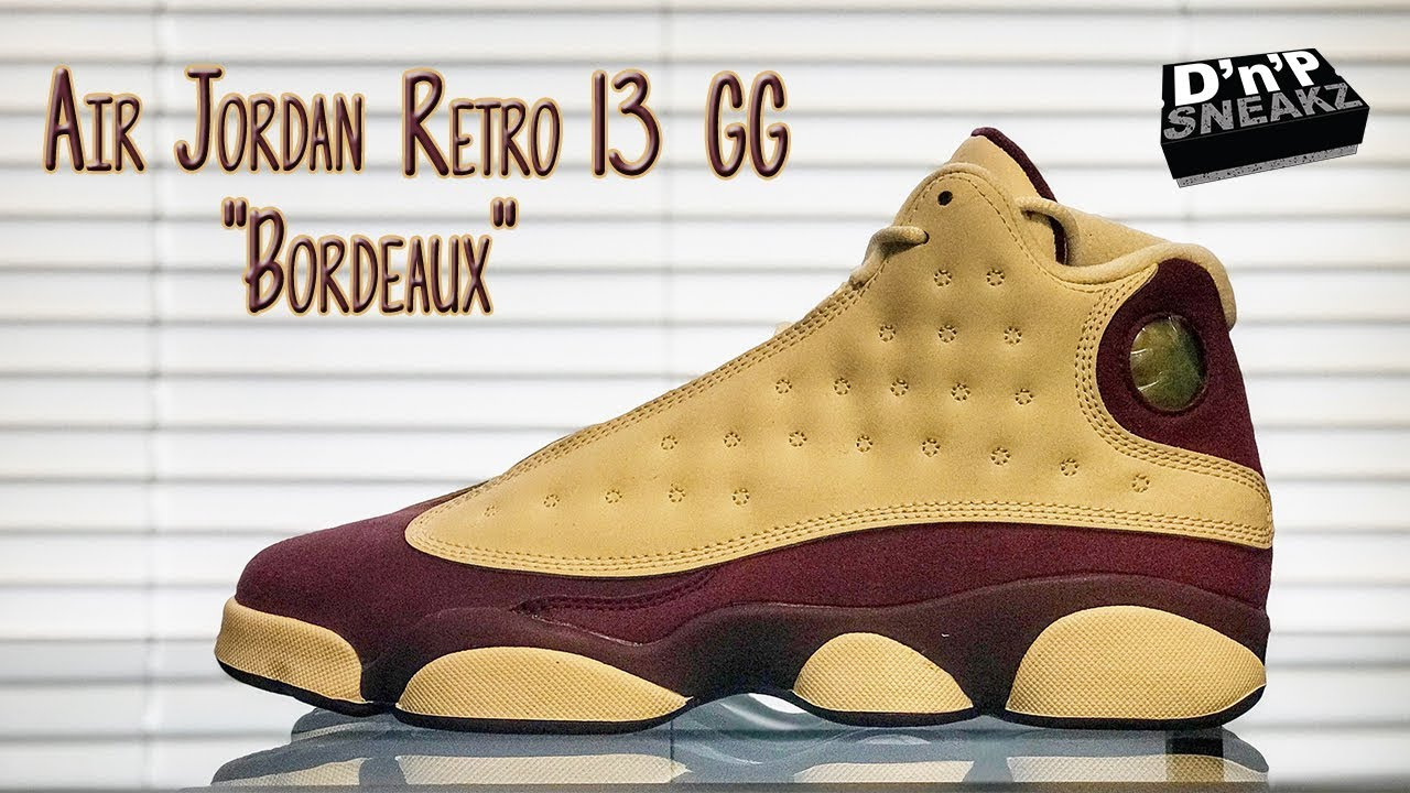 "8610ebbe06b197 Air Jordan Retro 13 GG ""Bordeaux"" - YouTube"
