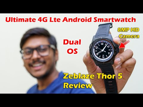 Zeblaze THOR 5 Review   Ultimate Android Smartwatch with 8MP Front HD Camera !!