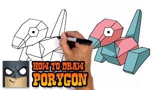 How to Draw Porygon | Pokemon (Art Tutorial)