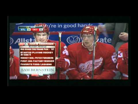 Joakim Andersson Detroit Redwings Player Profile Dec 27 2011