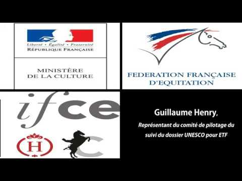 Convention FFE / IFCE «Equitation de tradition française» Guillaume Henry