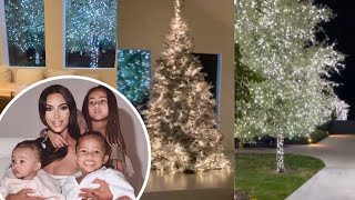 Let's begin!! Kim Kardashian reveals her Christmas decorations 🎄🎉🎊