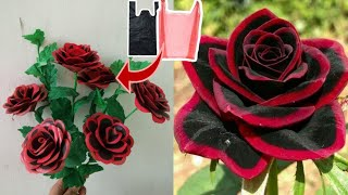 DIY Cara Membuat Bunga Mawar dari Plastik Kresek- How to make rose flower with plastic bag