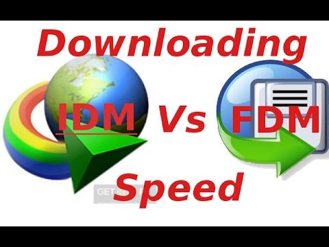 Downloading speed of IDM Vs FDM