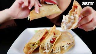 ASMR (Whisper) - Suave Boom Mom&#39s Chicken Tacos (Wimpy Version)  Eating Sounds  Mukbang 먹방