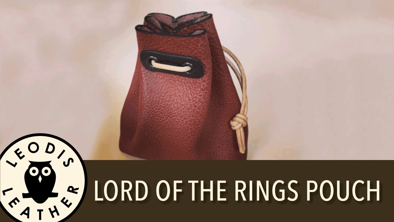 Making a Lord of the Rings Style Leather Pouch - YouTube ca1d43888c303