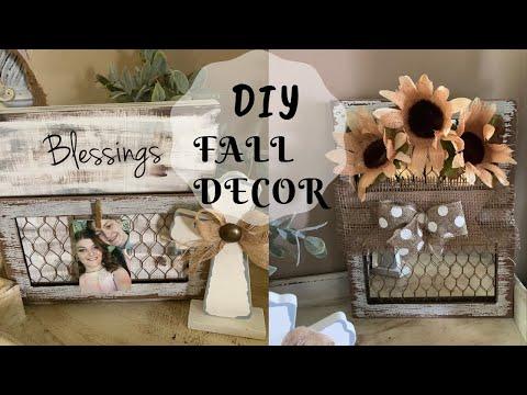 2  Dollar Store DIY's, Farmhouse Fall Décor